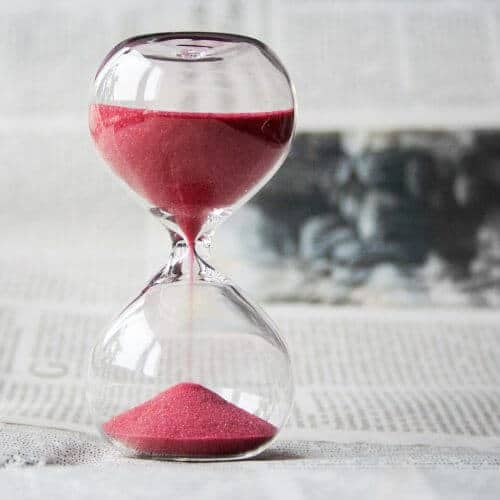 Be more productive hourglass