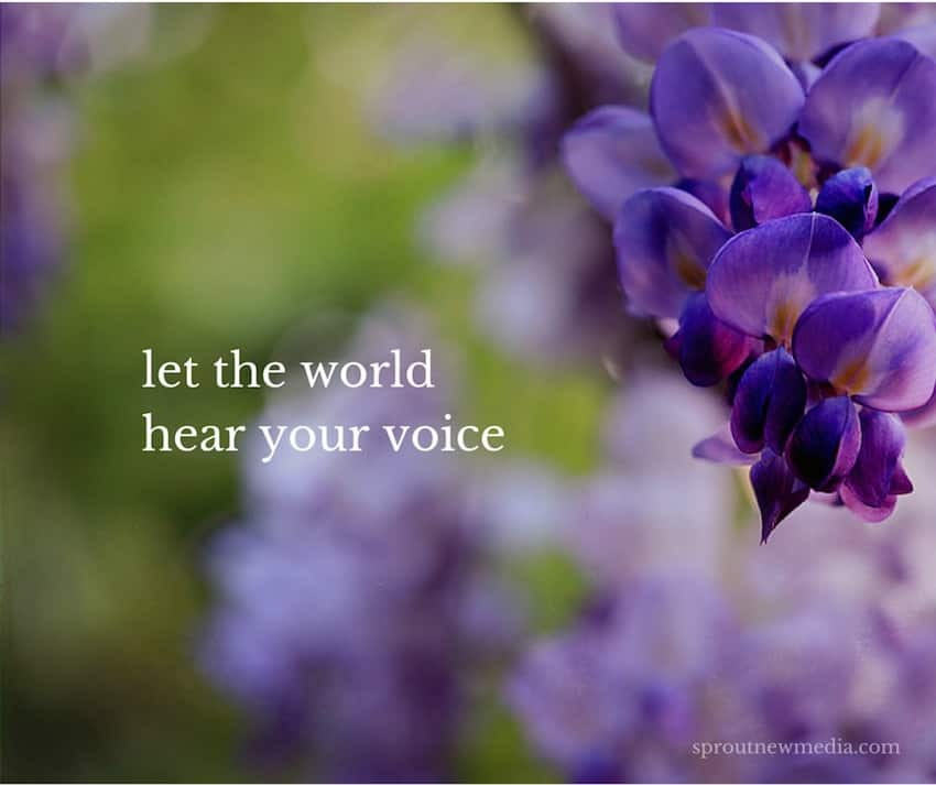 let the world hear your voice