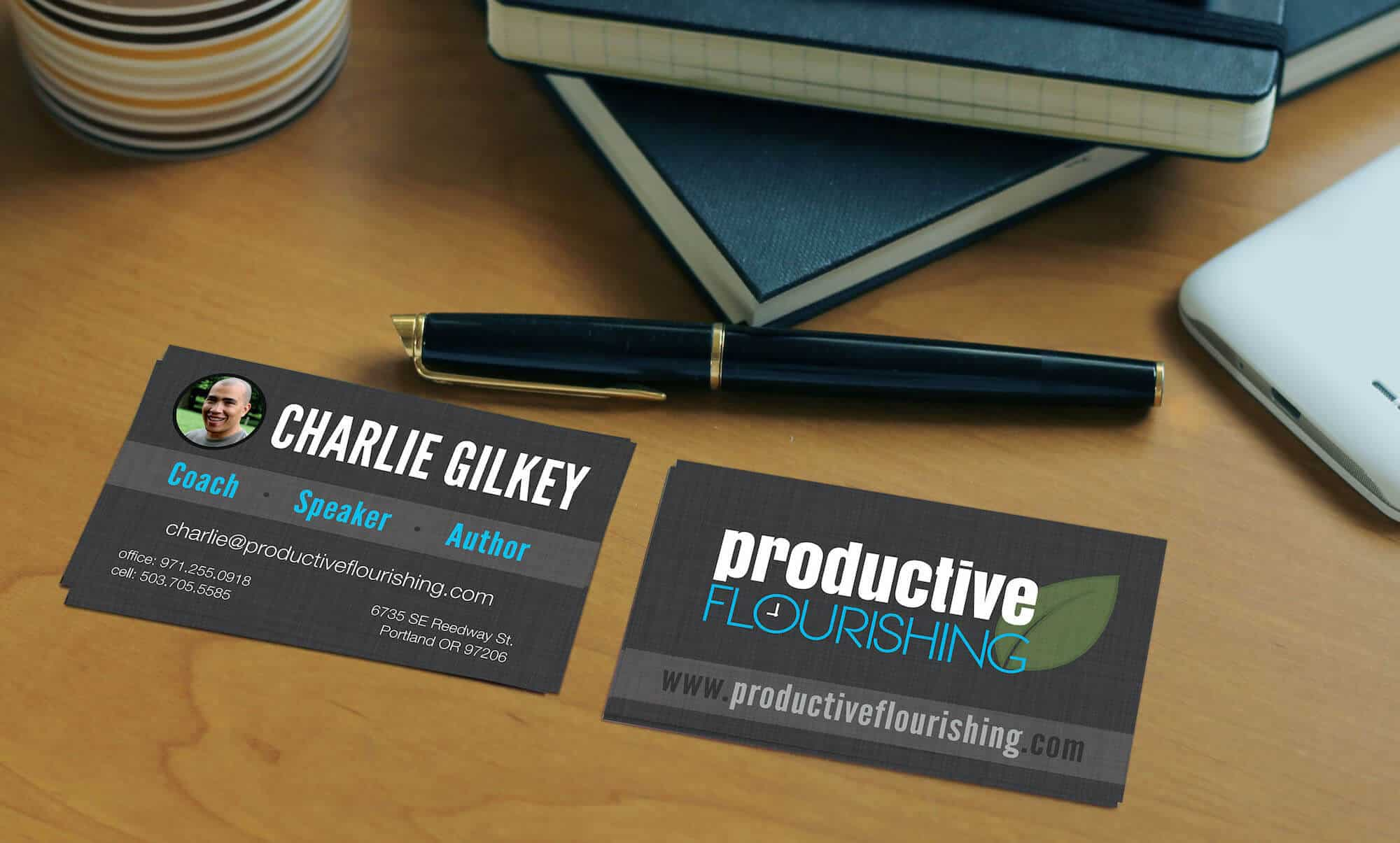 Charlie Gilkey business cards